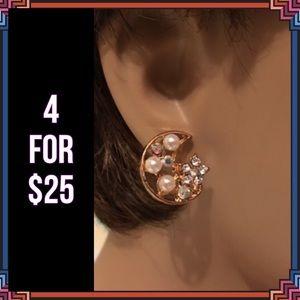 Jewelry - 4 FOR $25 🎁🎄🍾🥂 Moon Earrings